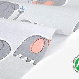Органический хлопок Dailylike «Organic cotton:elephant»