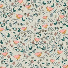 Ткань AGF «Lovebirds Celeste»