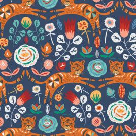Ткань AGF «Tigris Indigo»