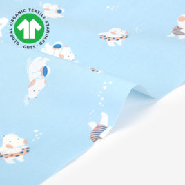 Органический хлопок Dailylike «Swimming hippo»