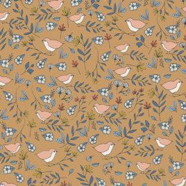 Ткань AGF «Lovebirds Amber»