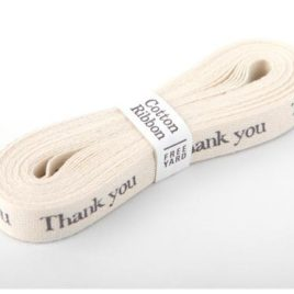 Хлопковая лента Dailylike «Thank you»