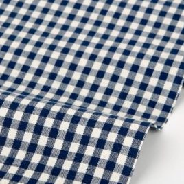 Ткань Dailylike «Navy:gingham check 1»